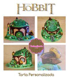 Tarta personalizada la casita del Hobbit #cake #thehobbit #hobbit #tarta #fondant