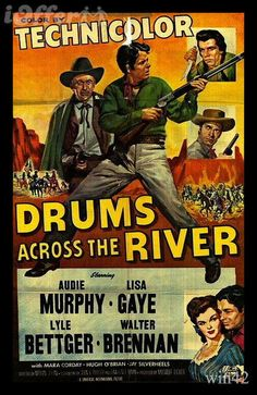 Audie Murphy in.. Drums Across the River''  1954