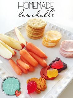 Lily's Lunch Box (Week 1) - Homemade 'Lunchable' — A classic back to school brown bag lunch!