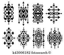 Aztec traditional mexican vintage creation stock vector image of 535925683 - Vintage mexican aztec tribal traditional vector logo design, navajo prints set.