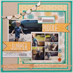 Puddle jumper.  Glue Meets Paper: Noel Mignon Design Team and Top 10 Noel Mignon Layouts