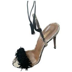 AQUAZZURA \N BLACK SUEDE HEELS. #aquazzura #shoes