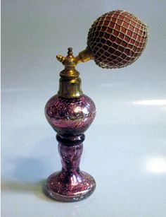 Amethyst Mercury Glass Czechoslovakia Perfume Atomizer