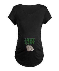52eb6c69dc4 Black  Army Baby  Maternity Tee - Women