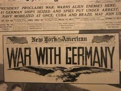 """The US declares war.  """"Whereas the Government of Germany has formally declared war against the Government and the people of the United States of America: Therefore be it Resolved That the state of war between the United States and the Government of Germany which has thus been thrust upon the United States is hereby formally declared. December 11, 1941"""""""
