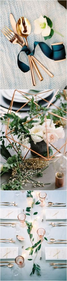 metallic copper wedding color ideas