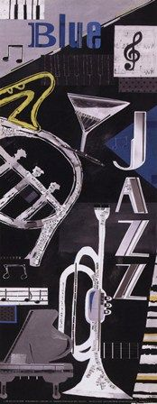 Blues & Jazz by Kate and Elizabeth Pope art print