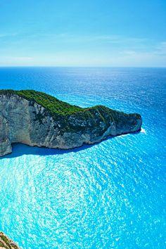 The Ocean Blue, Navagio Bay, Greece  photo via smoking