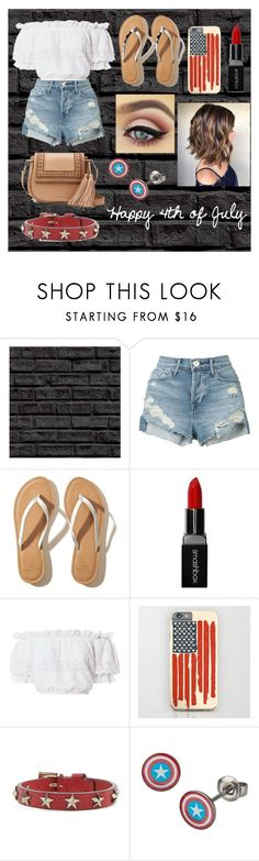 """4th of July outfit"" by shanoonflower ❤ liked on Polyvore featuring interior, interiors, interior design, home, home decor, interior decorating, 3x1, Hollister Co., Smashbox and LoveShackFancy"
