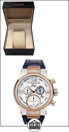 Frost de Mulco MW5-2601-143azul piel banda reloj de mujer con cristales de Swarovski  ✿ Relojes para mujer - (Lujo) ✿
