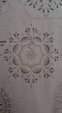 … - Her Crochet Crochet Leaf Patterns, Crochet Snowflake Pattern, Crochet Leaves, Crochet Circles, Crochet Motifs, Crochet Snowflakes, Crochet Mandala, Crochet Doilies, Crochet Flowers