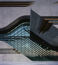 Zaha Hadid's streamlined glass and concrete government building in Montpellier