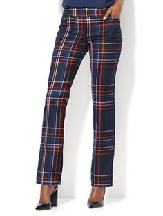 Shop 7th Avenue Pant - Straight Leg - Modern - Navy Plaid . Find your perfect size online at the best price at New York & Company.