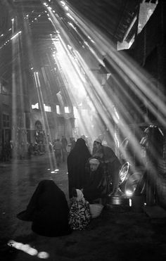 George Rodger IRAQ. Baghdad. Light streams into the ancient market (Suq). 1952.