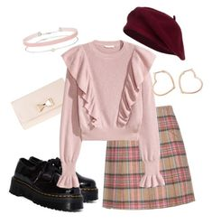 """""""#66"""" by bloomly-bee on Polyvore featuring moda, Shrimps, Dr. Martens, ZALORA, Luis Miguel Howard e Miss Selfridge"""