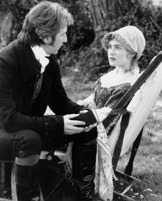 The beautiful moment when she suddenly sees what has been before her all the Marianne (Kate Winslet) and Colonel Brandon (Alan Rickman). Sense and Sensibility, RIP Alan Rickman Elizabeth Gaskell, Love Movie, Movie Tv, Perfect Movie, Perfect Man, Regency Fashion, Winchester, Historical Romance, Fantasy Art