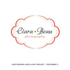 Bright + Cheery! Logo-A-Day Project | Day 3 from Dear Miss Modern. dearmissmodern.com #logo #branding #photography