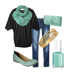 Everyday casual black with mint