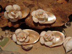 Beach Wedding Hair Clip Set with Beautiful by seashellsbyseashore, $32.00
