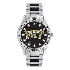Men's Game Time Pitt Panthers Heavy Hitter Watch, Silver