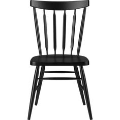 Willa Black Side Chair  | Crate and Barrel