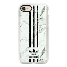 WHITE & BLACK ADIDAS | MARBLE - iPhone 7 Case, iPhone 7 Plus Case,... ($40) ❤ liked on Polyvore featuring accessories, tech accessories, iphone case, apple iphone case, iphone cover case, black and white iphone case and iphone cases