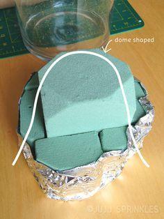 Fruit bouquet foam base