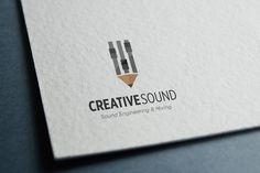 Check out CreativeSound - Logo by jamesfletcher on Creative Market