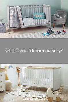 Our Lulworth cot bed brings a contemporary touch to your little one's nursery. As it converts from a cot bed to a toddler bed when needed, it will see you through the early sleepless nights into toddler tantrums.