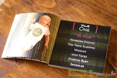 """Babys first yearbook. Birth announcement on cover, 12 monthly photo collage on back. Bump pics, monthly accomplishments, and birthday parties inside! Printed in a Blurb 7x7 """"brag"""" book"""