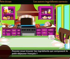 Jeu - Exercice - Préparez le petit-déjeuner français - Partie 1 - Niveau - Elémentaire (A1) - FLE - Gratuit