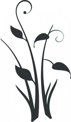 Étang fleur silhouette vecteur clip art | Vecteurs publiques