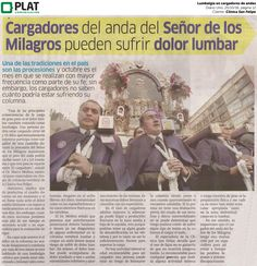 Clínica San Felipe: Lumbalgia en cargadores de andas en Diario Uno de Perú (25/10/16)