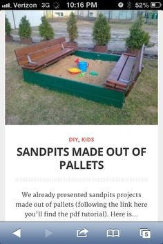 DIY pallets. Backyard for the kids