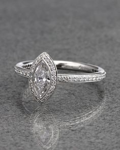 Ritani Platinum 0.78 cttw. Marquise Halo Diamond Ring - explore the art deco collection http://www.ritani.com/engagement-rings/style/art-deco-engagement-rings