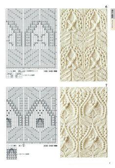 260 Knitting Pattern Book by Hitomi Shida 2016 — Yandex. Lace Knitting Patterns, Knitting Stiches, Cable Knitting, Knitting Charts, Lace Patterns, Knitting Designs, Hand Knitting, Stitch Patterns, Knit Stitches