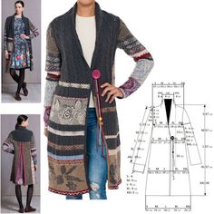 IVKO Woman`s Long Jacket Style 52736 ANTHRACITE 018