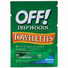 OFF! Deep Woods Insect Repellent Towelettes, 12 Packs DVOCB549967
