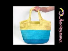 Мастер-класс по вязанию Сумки - шоппер (пляжной сумки) - YouTube