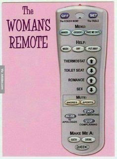 The womans remote