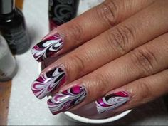 cool 15 Marvelous Marble Nail Designs