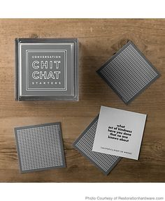 Chit chat cards from Restoration Hardware