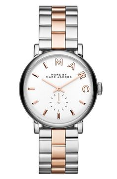 MARC+BY+MARC+JACOBS+'Baker'+Two-Tone+Bracelet+Watch,+36mm+available+at+#Nordstrom