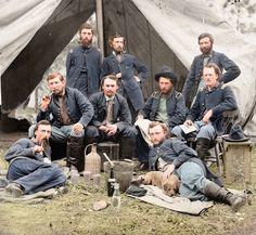 Moments in time captured from the American Civil war in the 1860's.