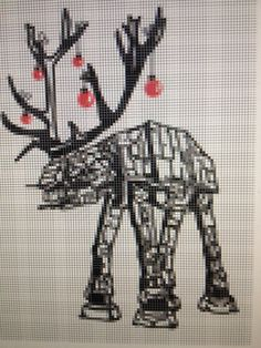 Star Wars ATAT Reindeer Cross Stitch Pattern by DoodleButton