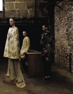 """""""Valentino Haute Couture"""" by Deborah Turbeville for Vogue Italia September 2012"""