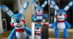 Five Nights At Freddy's – Toy Bonnie – Plush by roobbo.deviantart… on Toy Bonnie Plush, Fnaf Plush Toys, Fnaf Action Figures, Freddy Toys, Horror Video Games, Tomorrow Is Another Day, Freddy Fazbear, Clay Animals, Five Nights At Freddy's