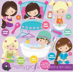Hygiene clipart perfect for hygiene and motivational charts for you children! #Prettygrafik #hygienechart #motivationalchart