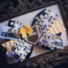 San Diego Chargers Hair Bow with Feltie by PrettyLittleThingsB, $7.50