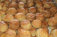 Škvarkové pagáče (fotorecept) - Recept Scones, Biscuits, Food And Drink, Appetizers, Cooking, Cake, Ethnic Recipes, Basket, Crack Crackers